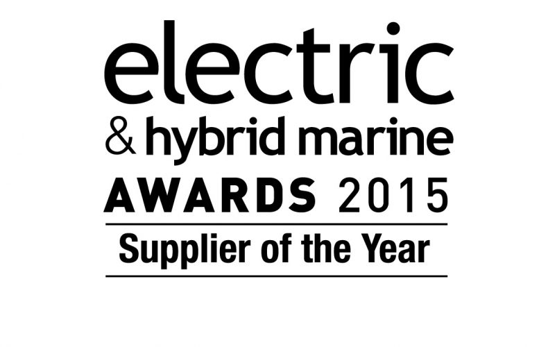 Supplier of the Year Award at the 2015 Electric and Hybrid Marine World Expo