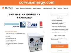 Corvus Energy Launches New Website